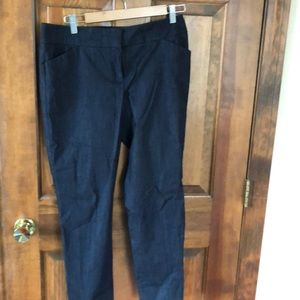 Light weight indigo Talbots slacks